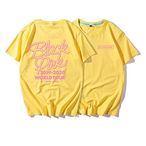 Moda para KPOP Blackpink Camiseta con Estampado Jisoo Jennie Rose Lisa Jisoo Camiseta para Mujer