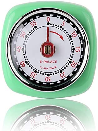E Palace Kitchen Timer 100 Mechanical No Batteries Needed Magnetic Backing with Loud Alarm Perfect product image