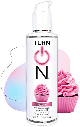 Turn on Cupcake Flavored Edible Sex Lube 8 Ounce Premium Personal Lubricant Long Lasting Formula product image