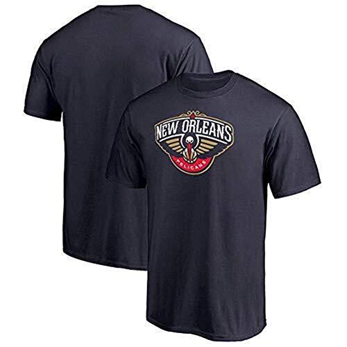 LLSDLS NBA Jersey New Orleans Pelicans Baloncesto Camiseta de Manga Corta Moda Juvenil Media Manga Camiseta (Color : Black, Size : L)