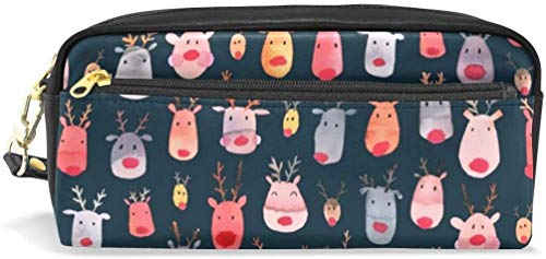 Reindeers Pencil Case Pen Bag Stationery Pouch Makeup Holder Cosmetic Box Pencil Case Pen Bag Stationery Pouch Makeup Holder Cosmetic Box Makeup Organizers