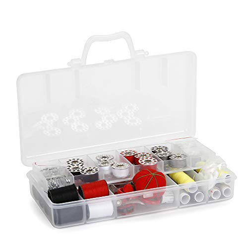 Sunbeam SEWING KIT, SB18 Over 120 Premium Sewing Supplies, 13 Spools of Thread - Most Useful Colors of Threads, Extra 12 quality Safety Pins - Mini Travel sewing kit, for Beginners, Emergency, Durable and Compact Box