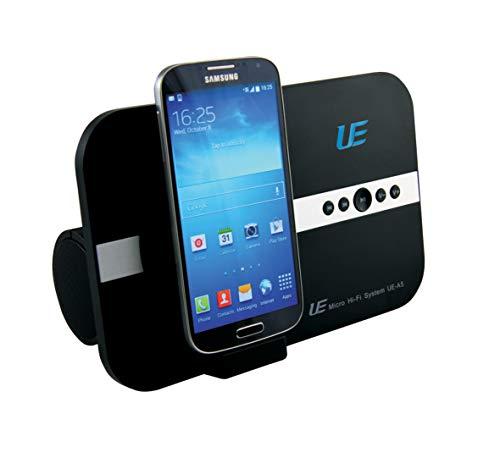 10 Watt Micro Soundsystem für Samsung J3 J5 J7 S4 S5 S3 S2 S6 S7 S7 Edge (A3 A5 2016) A6 A7 Alpha K zoom POCKET 2 DUOS .. für Musik Youtube Micro USB & Bluetooth Lautsprecher Fernbedienung schwarz