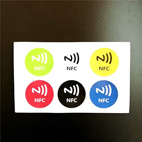 Ntag213 144byte NFC-capaciteit voor elektronische kleur, zelfklevende etiketten, 6 stuks