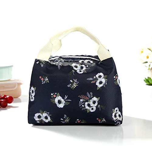 Insulated Lunch Bag Large Capacity Cool Bag Multi-Functional Lunch Tote Deformable Daily Food Container with High Density Waterproof Fabric Durable to School/Office/Outdoor,20.5x15x16cm