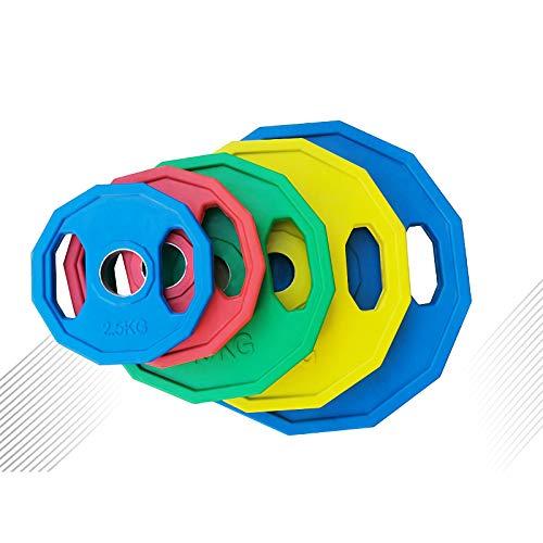 BaisdSport Dischi per bilanciere da Dischi in ghisa per Allenamento con Pesi, per bodyvuilding(Foro da 50 mm 2.5kg, 5kg, 10kg, 15kg, 20kg, 25kg,2x2.5kg