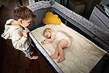 Hauck Sleep N Play Center 7-teiliges Kombi-Reisebett bis 15 kg, mit Neugeborenen-Einsatz, Schlupf, Wickelauflage, Rollen, Faltboden, Tragetasche, höhenverstellbar, faltbar - Grau - 8