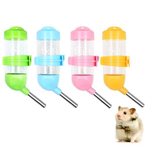 Geluode Wasserspender für Hamster, Kaninchen, Meerschweinchen, Eichhörnchen, Kleintiere, 80 ml, 4 Stück