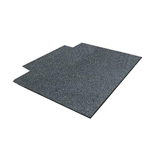 Weq Bodenmatte Teppich Wohnzimmer Schlafzimmer Nacht Foyer Couchtisch Mat Stuhl unter dem Dressing Hocker unter dem rechteckigen Kratzer-Lehm-Teppich (Color : Black, Size : 120 * 160CM)