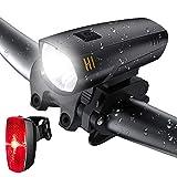 LIFEBEE Batterie LED Fahrradlicht Set, LED...