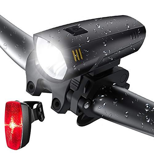 LIFEBEE Batterie LED Fahrradlicht Set, LED Fahrradbeleuchtung Frontlicht Rücklicht Fahrradlampe, 2 Licht-Modi, IPX5 Wasserdicht Fahrradlichter für Mountainbike, Batterie Nicht inklusive