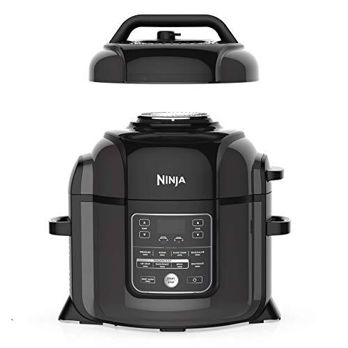 Ninja OP401 Foodi XL TenderCrisp Pressure Multi Cooker 8 quart Black/Gray (Renewed)