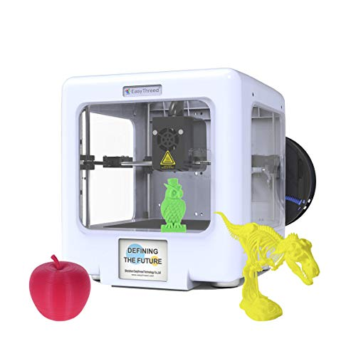 Aibecy EasyThreed ET-5000 Mini Compleet gemonteerde 3D-printer met afneembaar magnetisch platform ondersteuning WiFi app-verbinding compatibel met Android mobiele telefoon leducatief geschenk voor kinderen beginners wit