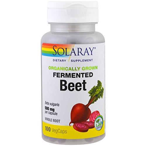 Solaray Organically Grown Fermented, Beet Root, White, 100 Count