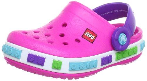 crocs Crocband Kids Lego, Zuecos para Niñas, Rosa-Pink (Neon Magenta/Neon Purple 6N4), 27/29 EU