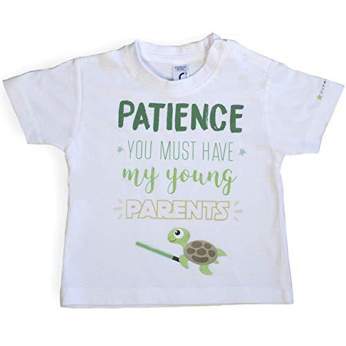Ropa Bebé. Camiseta Star Wars para bebé. Ropa Divertida. Colección Friki. Unisex. 12-18 Meses