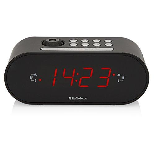 AudioSonic CL-1496 Uhrenradio/Radiowecker Projektion Helligkeitsregler schwarz