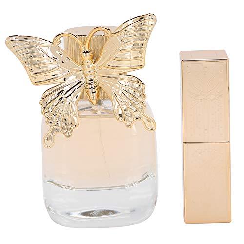 Coffret Parfum Femme 4g Rouge à Lèvres 3 Couleurs et 50 ml Coffret Parfum Longue Durée