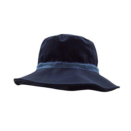 PICKAPOOH Sonnenhut Olaf mit UV-Schutz Bio-Baumwolle, Marine Gr. 52