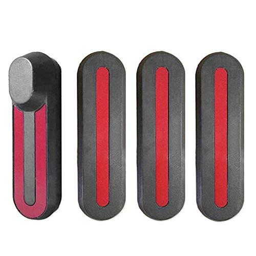 Winthai 4PCS U / I Protezione Ruota Anteriore Ruota Posteriore a Forma di Adesivo con Adesivi Riflettenti Compatibile per Scooter Elettrico Xiaomi Mijia M365 Scuro Grigio