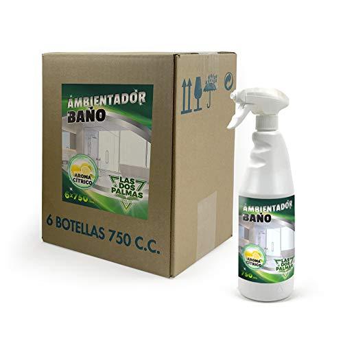 Las 2 Palmas Lufterfrischer mit Zitrusduft, 6 x 750 ml, insgesamt 4500 ml