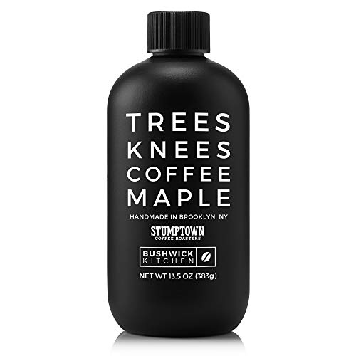 Bushwick Kitchen Trees Knees Coffee Maple, Organic Maple Syrup Infused with Stumptown Coffee, 13.5 Ounce Bottle