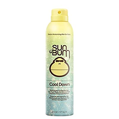 Sun Bum Cool Down Aloe Vera Spray | Vegan and Hypoallergenic After Sun Care with Cocoa Butter to Soothe and Hydrate Sunburn Pain Relief | 6 oz