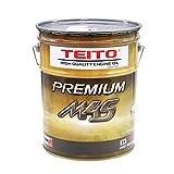 バイク エンジンオイル 10w-40 20L ペール缶 化学合成油(全合成油) MA2規格適合 TEITO PREMIUM M4S 10w40 カワサキ ヤマハ ホンダ スズキ等の4サイクルエンジンに。オートバイ用 日本製 4サイクル 耐熱 耐久性 (20L) 4573512810024