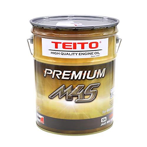 バイク エンジンオイル 10w-40 20L ペール缶 化学合成油(全合成油) MA2規格適合 TEITO PREMIUM M4S 10w40 カワサキ ヤマハ ホンダ スズキ等の4サイクルエンジンに。オートバイ用 日本製 4サイクル 耐熱 耐久性 (20