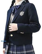 【未来ノ夢】 ブレザー jk制服 ジャケット コート 長袖 コスチューム 女子制服 通勤 バッジ付き 3色対応