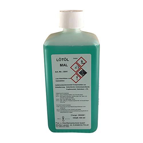 Flussmittel/Lötöl MAL 500 ml (700 g) (Konventionelles Weichlöten von Edelstahl, auch für nicht polierte Edelstähle)