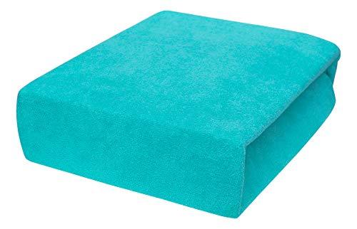 Drap housse avec élastique éponge 90x160, 90x180, 90x200 - 23 Farben 90x200,turquoise