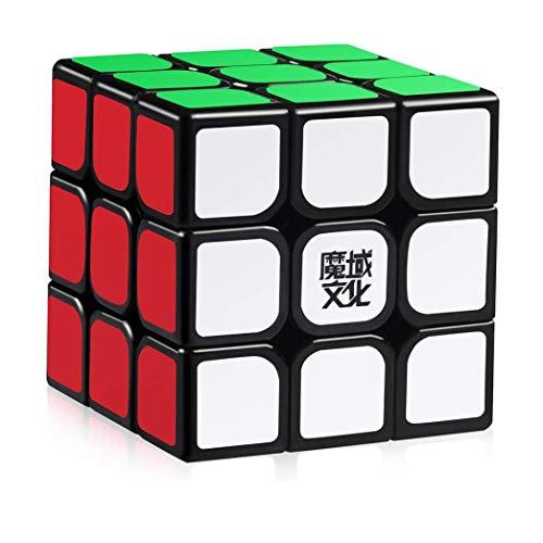 Easygame Moyu Aolong Magic cube 3X3 Speed cube Black Body finger toys