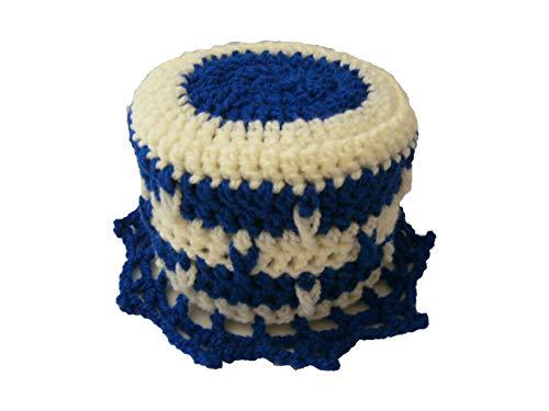 Storchenlädchen Klohut, blau weiß Klohüte Klopapierhut Klopapierhüte Toilettenpapierhut Toilettenpapierhüte