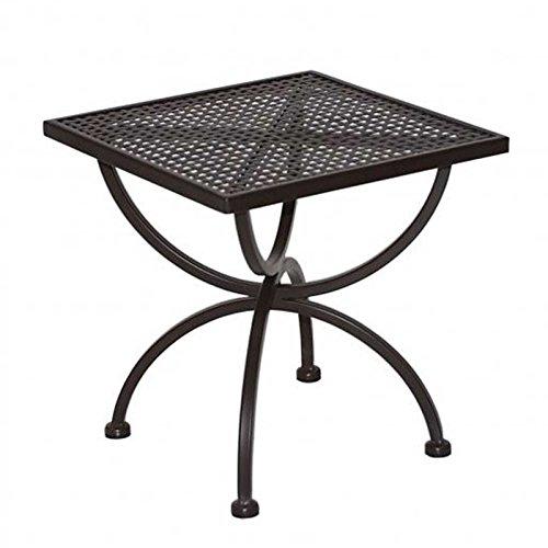 Gartenmoebel MBM Beistelltisch Romeo 50x50cm Schmiedeeisen Marone-antik Gartentisch