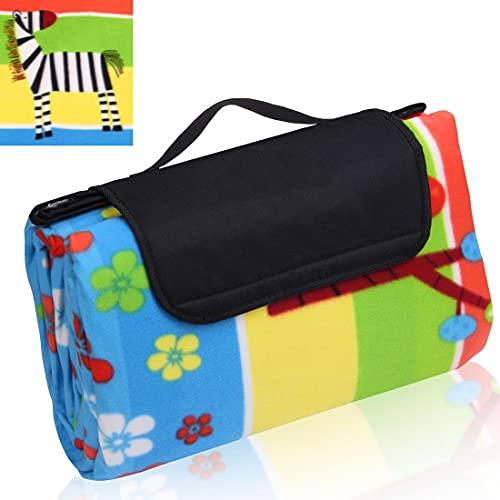your GEAR Kids XL - Manta de picnic para niños, 200 x 200 cm, forro polar, impermeable y aislada
