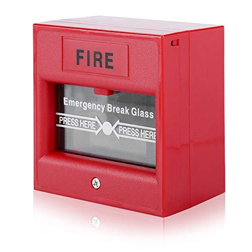 Botón de alarma de incendio, interruptor de alarma de rotura de cristal para apertura de puerta de emergencia a la salida de emergencia