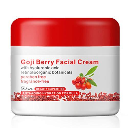 Goji Berry Crema facial con ácido hialurónico Sin parabeno Sin fragancia Crema facial Antioxidante Antienvejecimiento Reafirmante de la piel