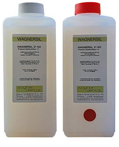 WAGNERSIL 21 NO transluzentes Premium Silikon Kautschuk Dubliersilikon (weich) 2 kg