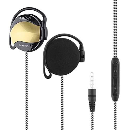 Belity SHINI SN-Q140S 3.5mm Wired Headsets Sport Headphone Ear-Hook Headset Line Control Volume Earphone with Mic for Phone