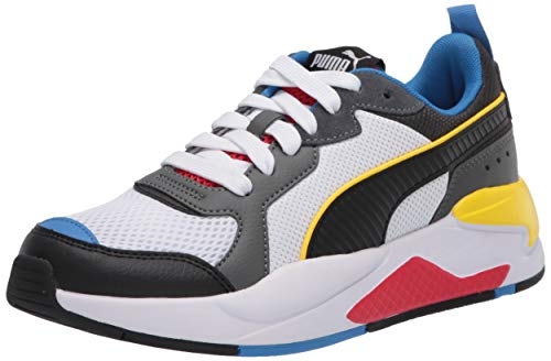 PUMA X-Ray Sneaker, White Black-Dark Shadow-high Risk Red-Palace Blue, 10 M US