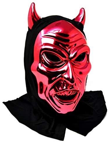 VENTURA TRADING MX17 Máscara de Diablo Satán Diablo Máscara de la Mascarada Mascarilla Veneciana Pluma Decoración Mujer Mascarada Disfraz Mardi Gras Fiesta