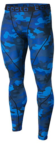 Tesla CD TM-MUP19-MBL_Medium Men's Compression Pants Baselayer Cool Dry Sports Tights Leggings MUP19