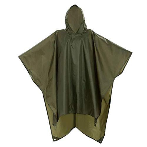 Poncho Wasserdicht Poncho Wandern Cape Jacke 3 in 1 Outdoor-regen-mantel-überlebensausrüstung Mit Kapuze Für Outdoor-aktivitäten Campingausrüstung
