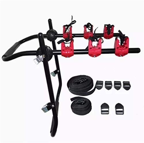 Fastped Multifunctional Car Bicycle Rack For 3 Bicycles On Car,Aluminium , Black