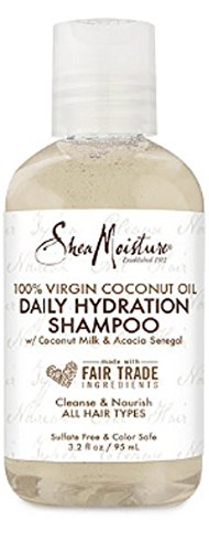 SHEAMOISTURE Travel Size 100% Virgin Coconut Oil Daily Hydration Leave-In Treatment 3.3 fl oz, pack of 1