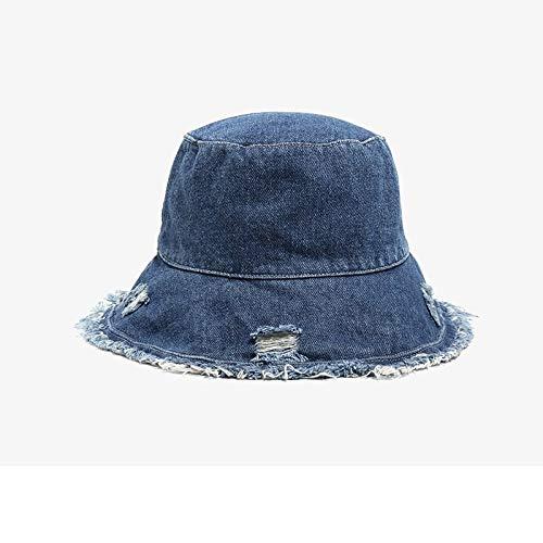 Fischerhut Für Frauen Marineblau Geschredderte Jeans Dünner Fischerhut Weiblicher Mann Frühling Sommer Sonnenschutz Becken Hut Frau Damen Sommerhut