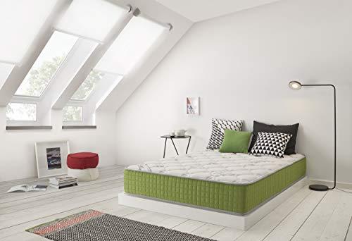 ECCOX - Colchón Viscoelástico Eco Infinity 140x190 Altura 25 cm +/-2 Firmeza Media-Alta