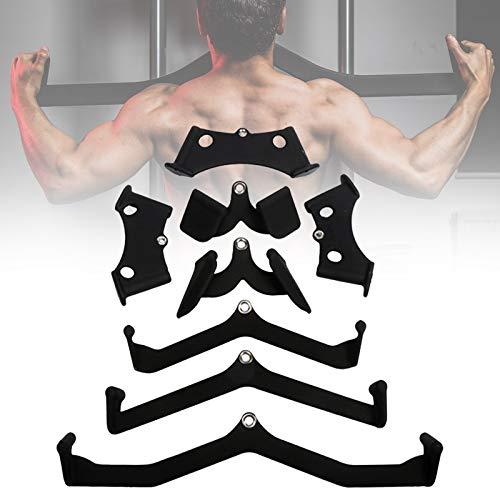 Gym LAT Pulldown Rudergriff, Fitness Riemenscheibe Griffe, V-Form Studio Training Bar, Bizeps Trizeps Krafttraining Bodybuilding Kabel Parallelgriff Zubeh Kit,11