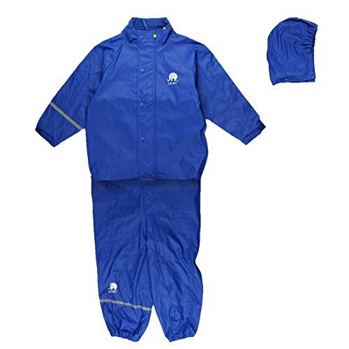 Celavi Baby Unisex Regen Anzug, Jacke und Latzhose mit Hosenträgern, Alter 9-12 Monate, Größe: 80, Farbe: Blau, 1145